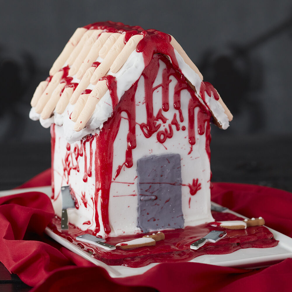 Bloody Halloween Gingerbread House Wilton