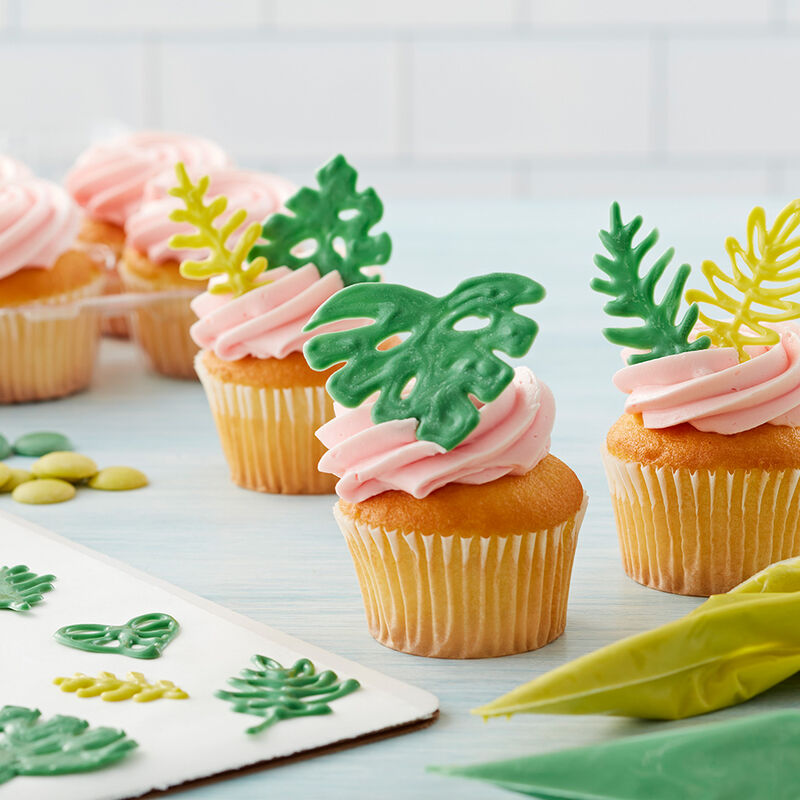 Tropical Leaf Cupcakes image number 2