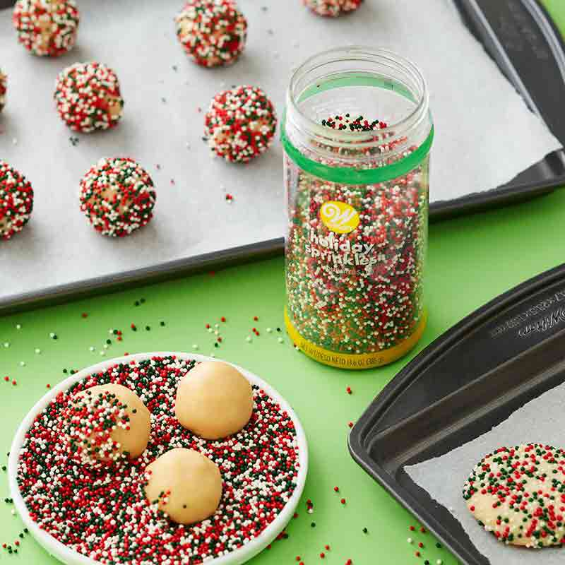sugar cookies with sprinkles image number 0