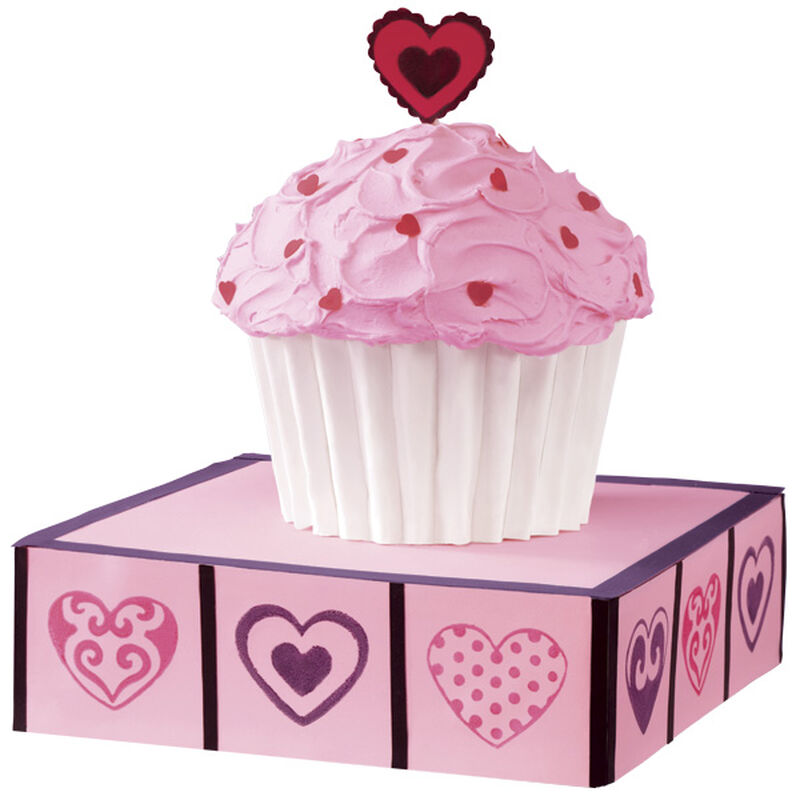 Supersize Valentine's Day Cupcake Cake image number 0