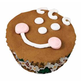 Grinning Gingerbread Cupcakes