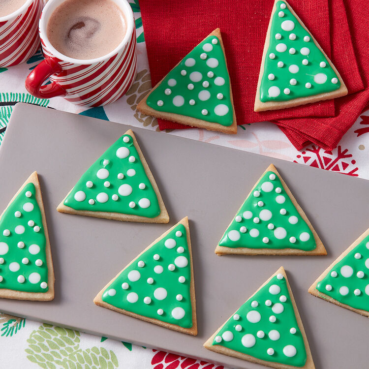 Christmas Cut Out Cookie Recipe - Christmas Tree Sugar Cookies