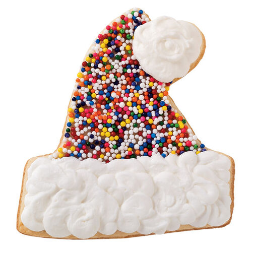 Holiday Lights Hat Cookie