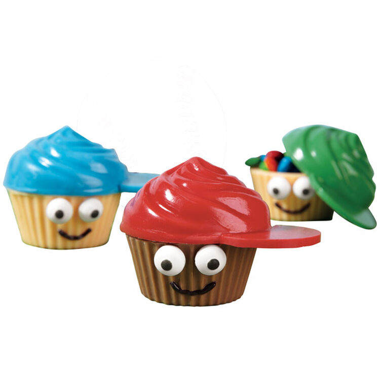 Kids in Caps Candy Cupcakes