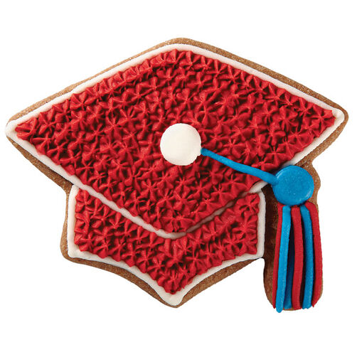 Red Graduation Cap Cookies