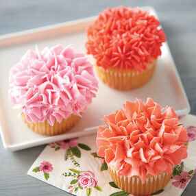 Crazy for Coral Cupcakes