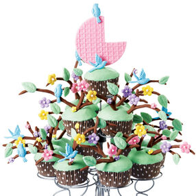 Family Tree Cupcake Display