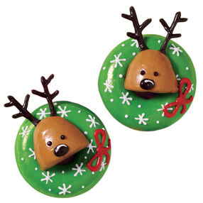 Reindeer Wreath Christmas Donuts