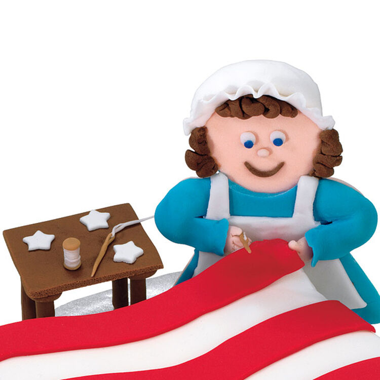 Betsy Ross, Table, Needles and Thread