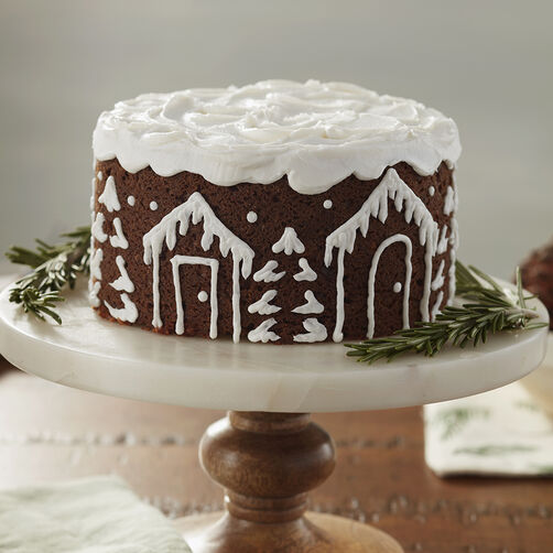 Winter White Beginner Gingerbread Cake