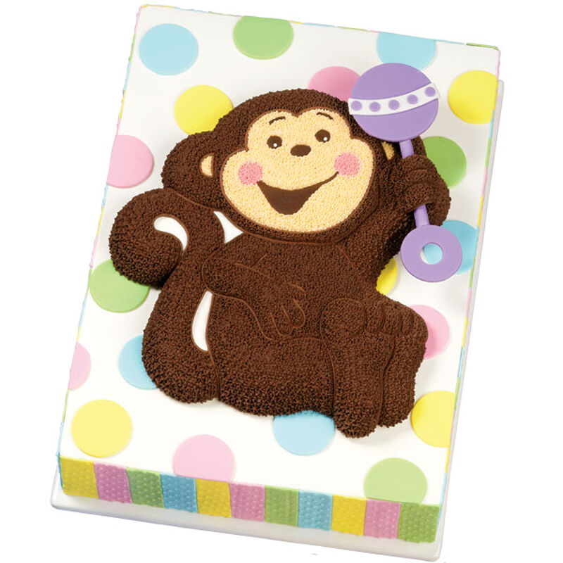 Rattling His Cage Monkey Baby Cake image number 0
