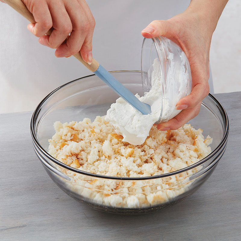 Step 1: Add Buttercream to Crumbed Cake image number 1