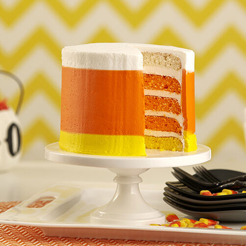 Cake In Candy Corn Colors