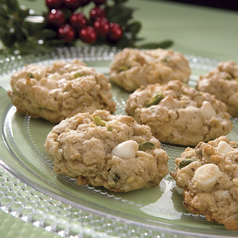 White Chocolate Oatmeal Pistachio Cookies image number 0