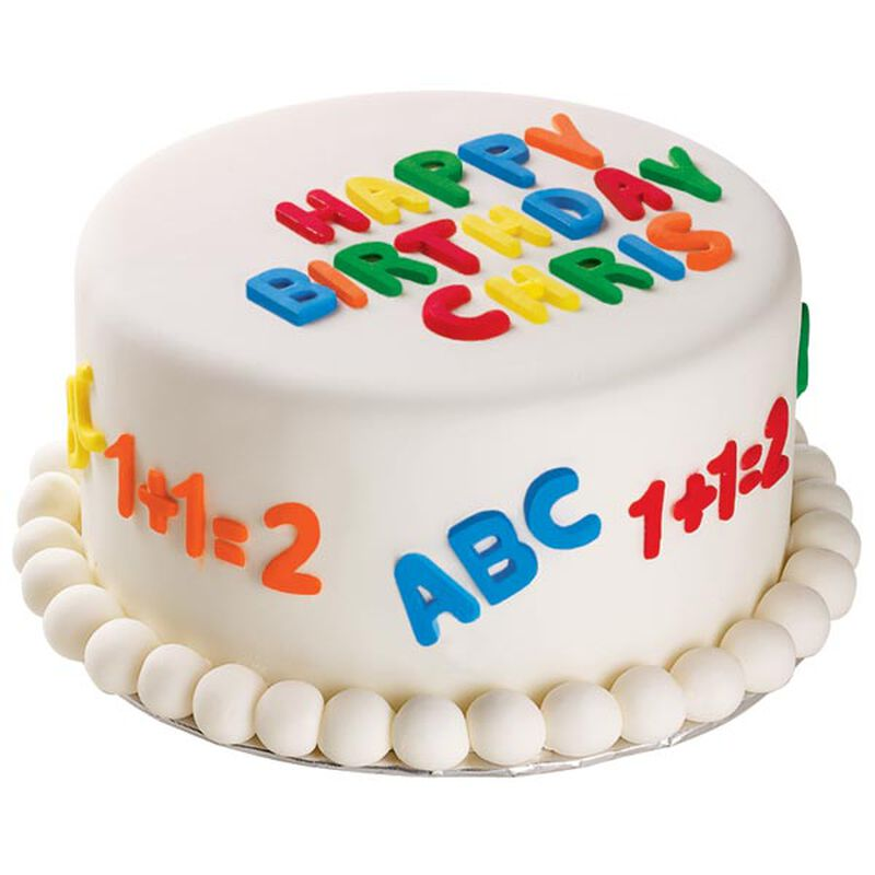 A B C's  and 1 2 3's cake image number 0