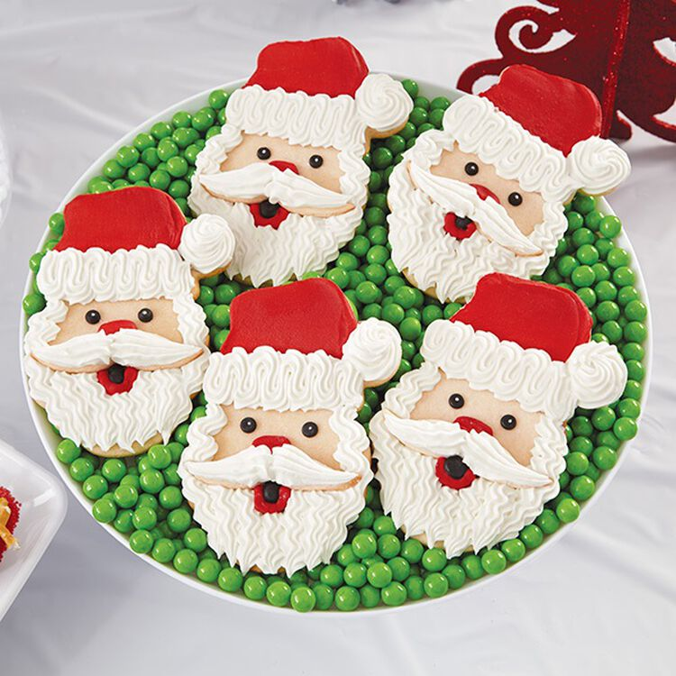 Santa Face Christmas Cookies