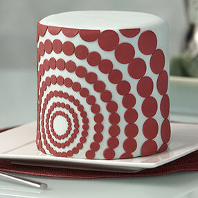 Marsala Cake With Geometric Shapes