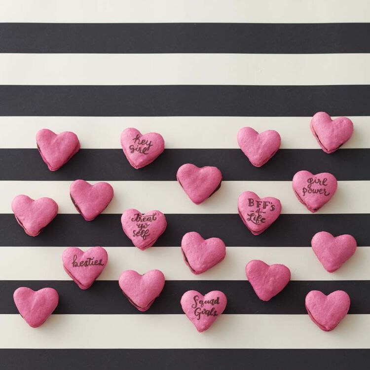 Heart French Macaron Cookies Recipe