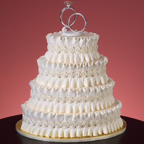 wedding cakes without royal icing ruffles and roses cake wilton 26069