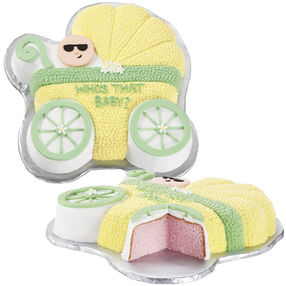 Baby Reveal Buggy Cake