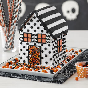 Modern Halloween Gingerbread House