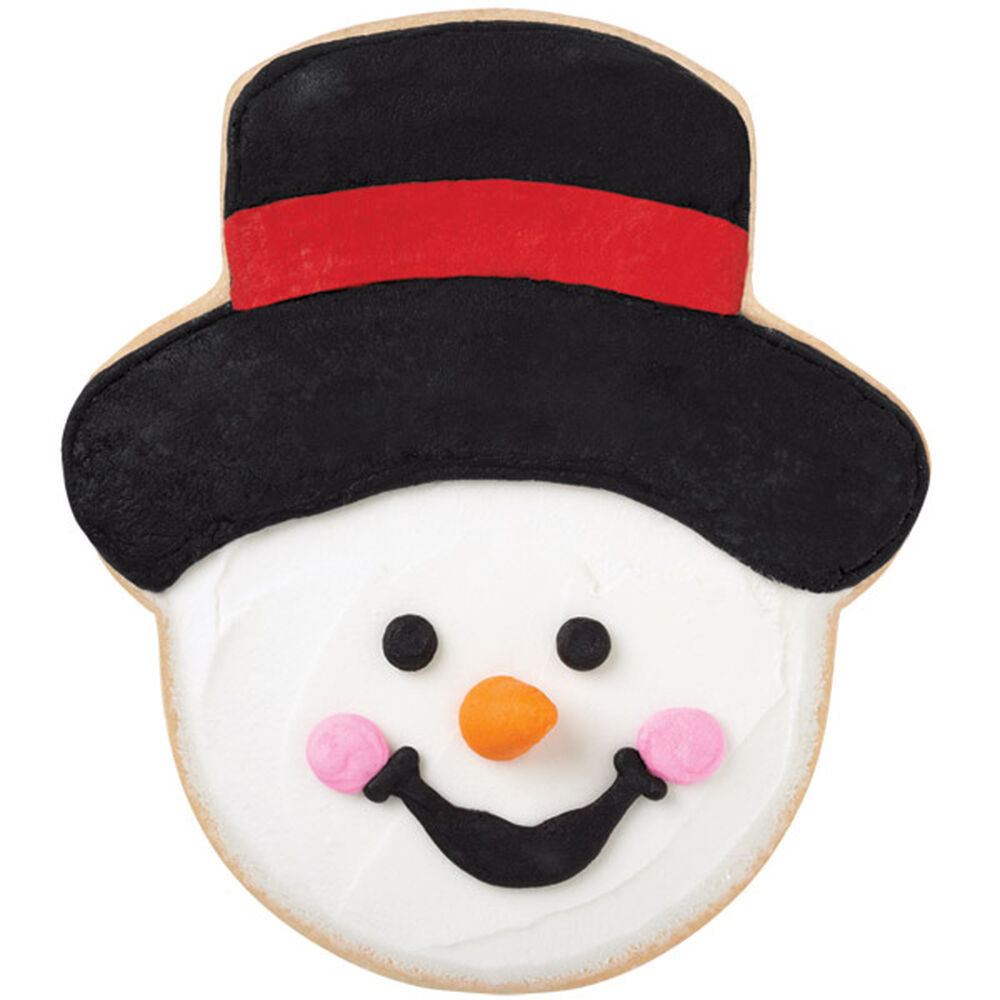 Black Top Hat Snowman Cookies Wilton