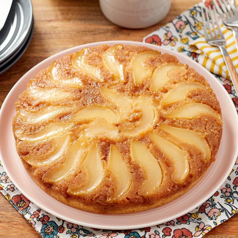 Upside-Down Pear Cake Recipe image number 0