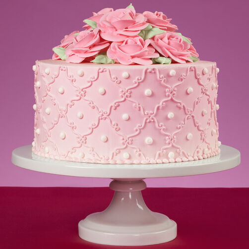 pink rose cake so sweet pink roses cake 6591