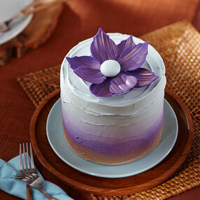 Metallic Purple Flower Cake