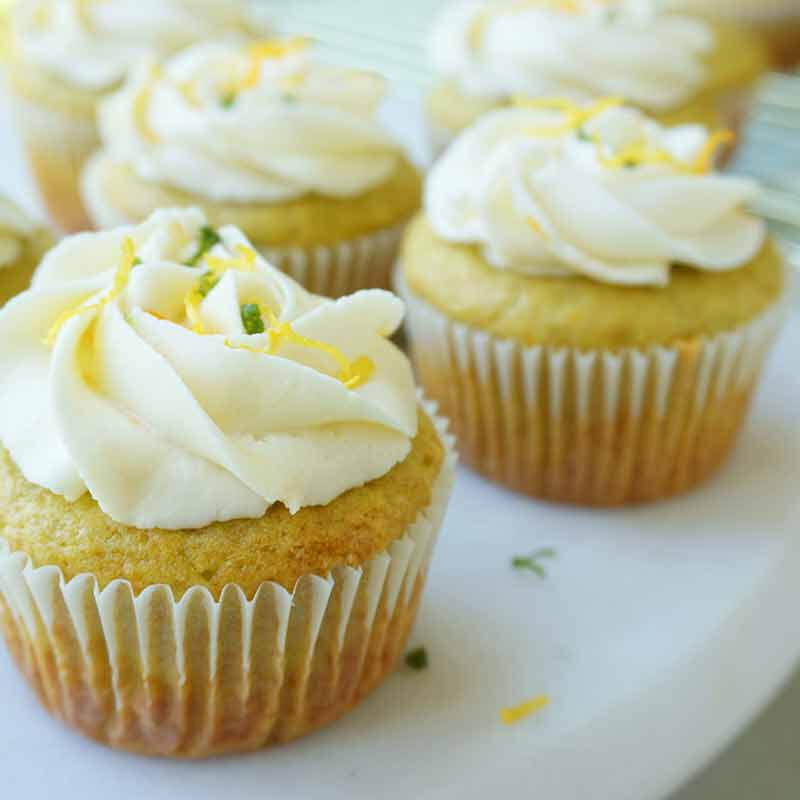 citrus avocado cupcakes with vanilla buttercream frosting image number 3