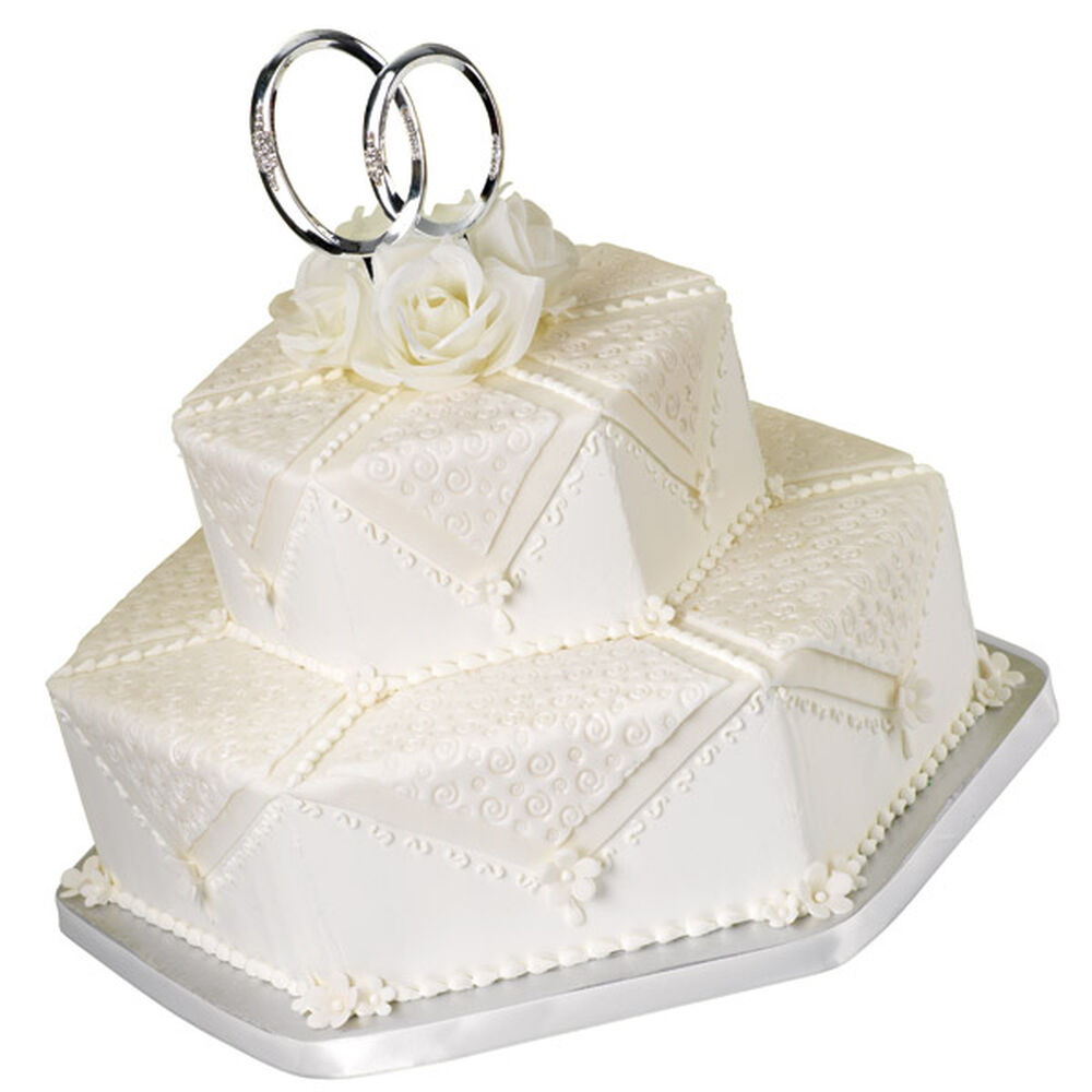 Double Ring Wedding Cake Wilton