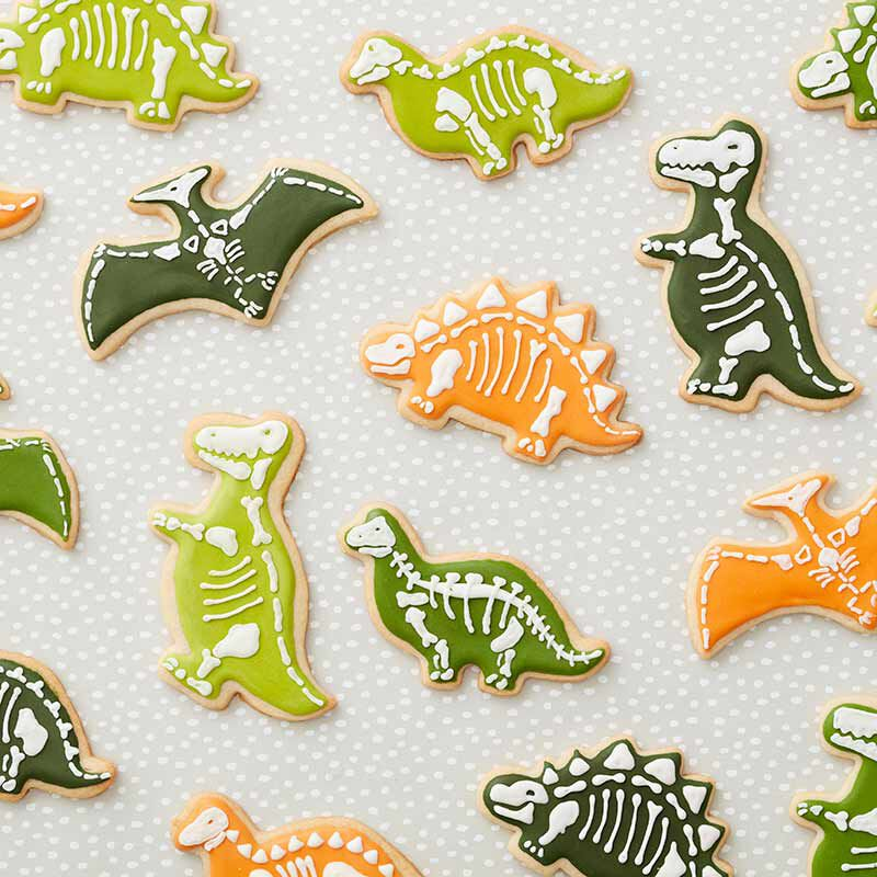 dinosaur decorated sugar cookies image number 0