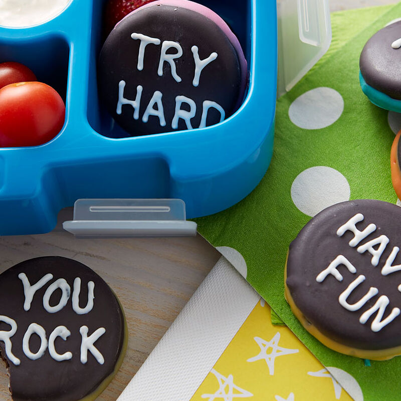 How to Make Candy Covered Cookie Sandwich Chalkboards