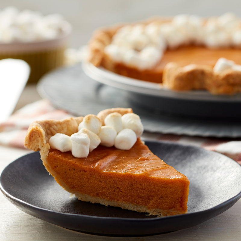 Sweet potato pie topped with marshmallows image number 1