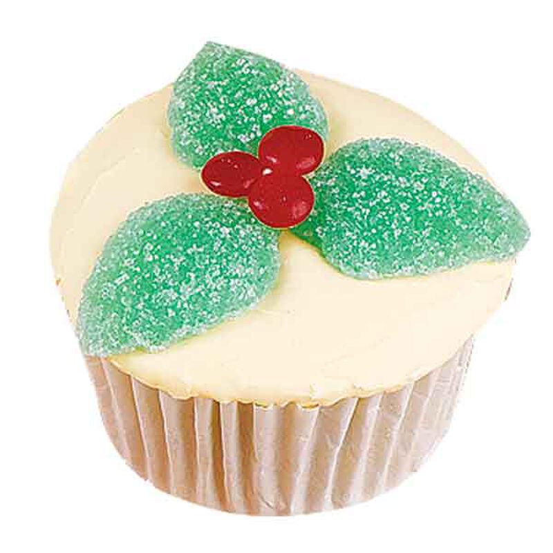 Holly Leaves Cupcakes image number 0
