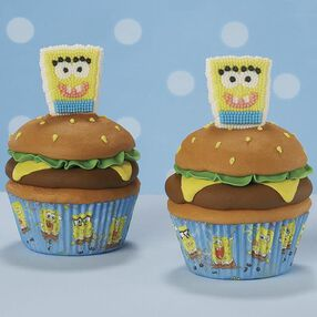 Snackin' with SpongeBob Cupcake