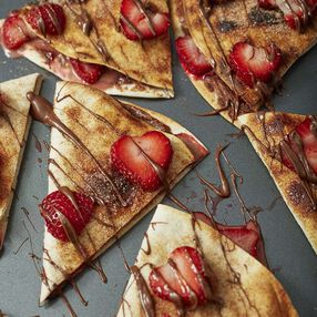 Chocolate and Strawberry Dessert Quesadillas Recipe