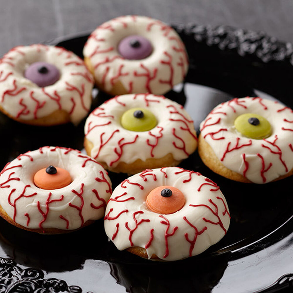 Scary Halloween Donut Recipe Eye Scare You Donuts Wilton
