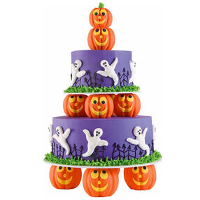 Ghostly Graveyard Cake