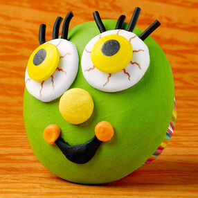 Happy Green Monster Cupcakes