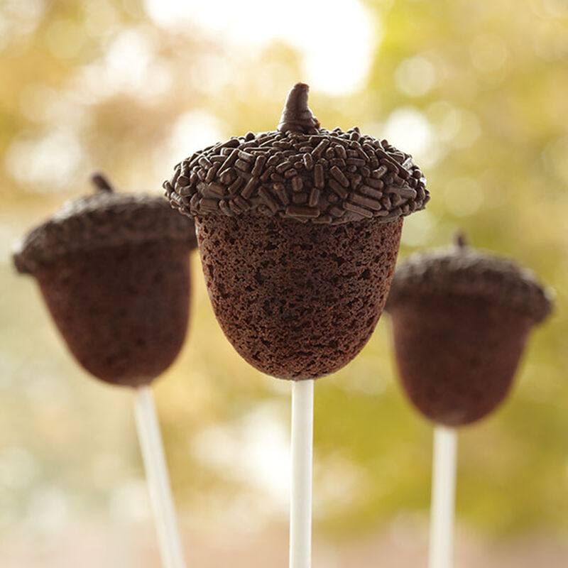 Acorn Shaped Fall Brownie Cake Pops image number 0