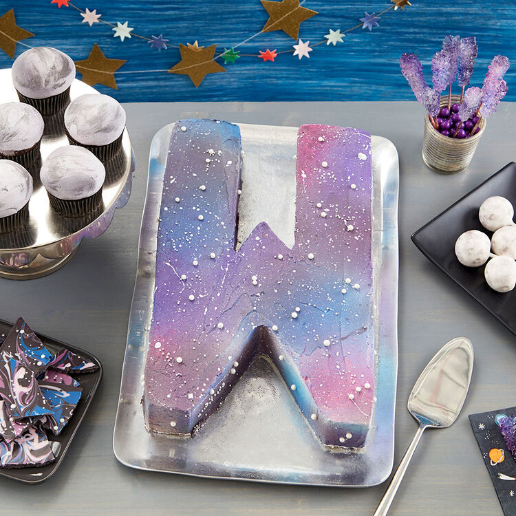 Galaxy Letter Cake
