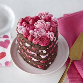 Layered Heart Cake