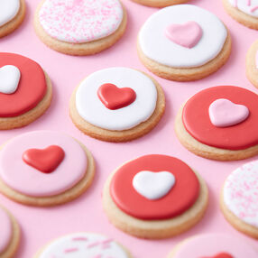 Mini Round Heart Cookies