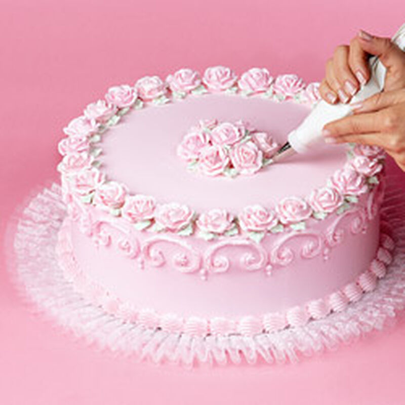 How to Add Tuk 'N Ruffle To Cake Boards image number 0