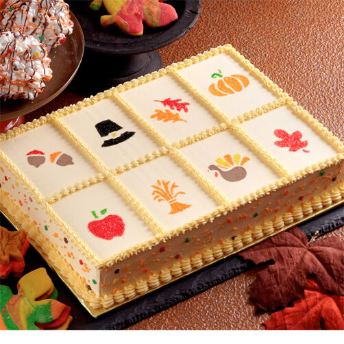 Stenciled Fall Cake Wilton
