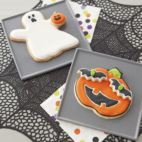 Halloween Party Cookies- Ghost and Pumpkin Cookies