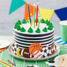 For the Love of Sports Birthday Cake