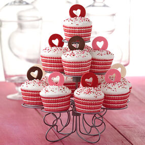 All Heart Candy-Topped Cupcakes
