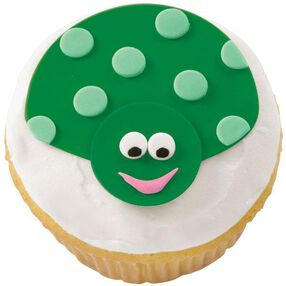 Green with Envy Ladybug Cupcake